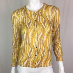 J. Crew Merino Wool Glitter Cardigan Sweater